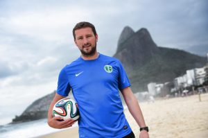 Colchester FA Licensed Football Coach Jamie Bradbury in Rio, Brazil during the 2014 World