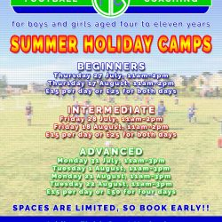 JBFC Summer Holiday Football Camps